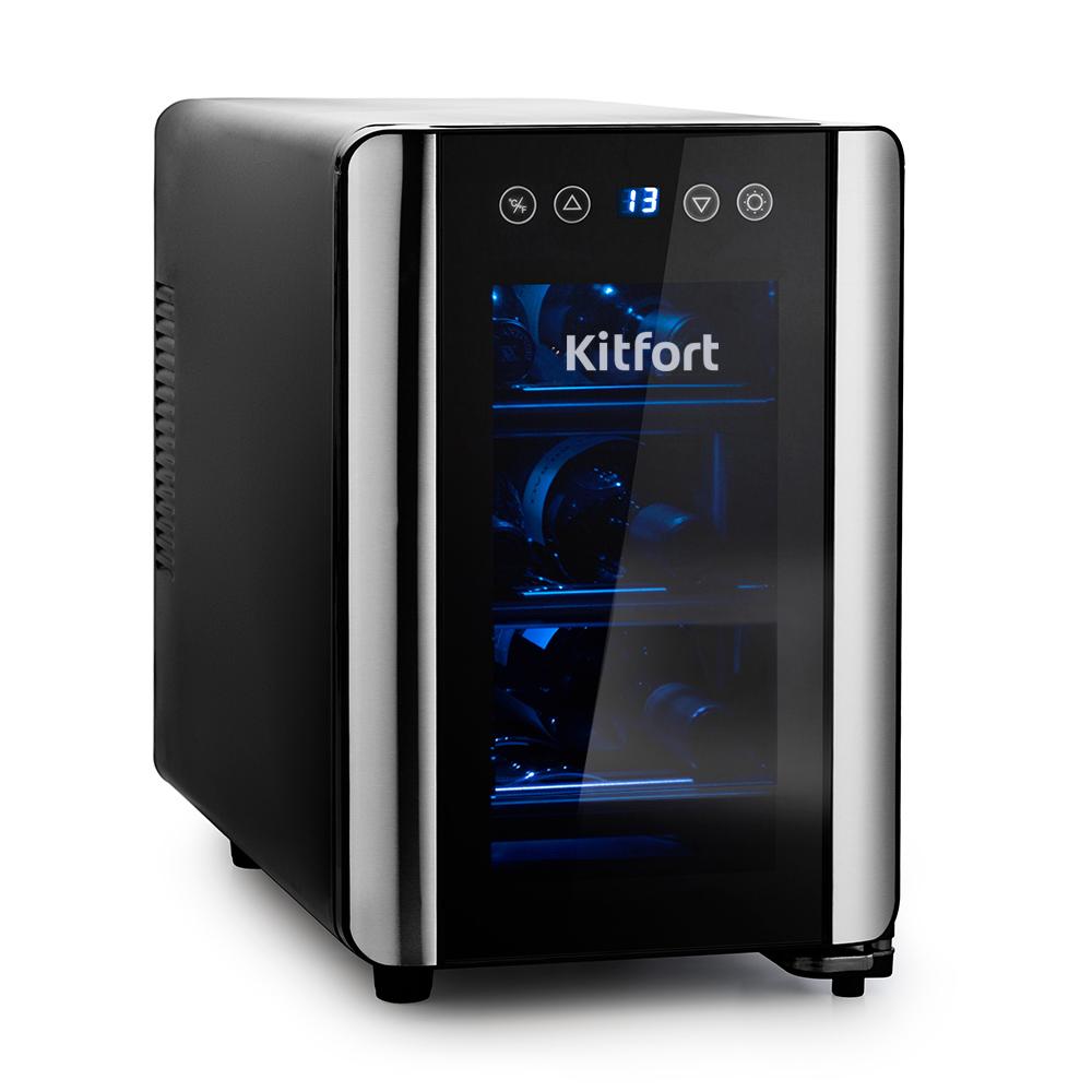 Винный шкаф Kitfort KT-2401 купить по цене 11290 руб.: отзывы, фото, характеристики